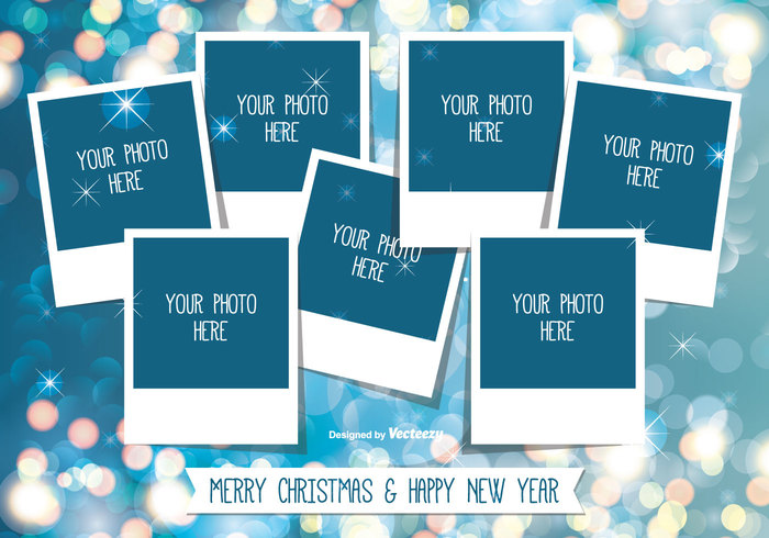 Christmas Photo Collage Template free vectors UI Download