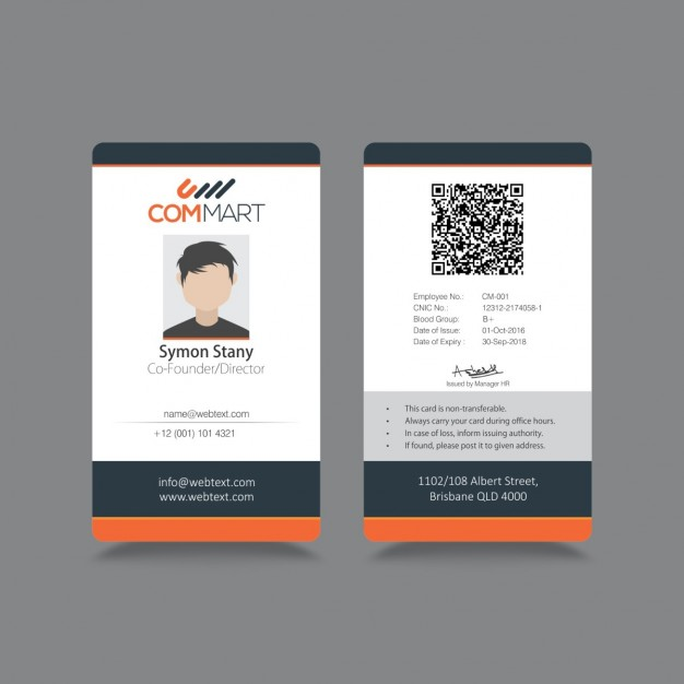 Modern simple ID Corporate identity free vectors UI Download - id card psd template