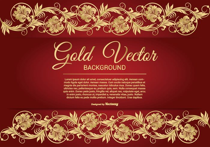 Fall Leaves Wallpaper Border Elegant Gold And Red Background Illustration Free
