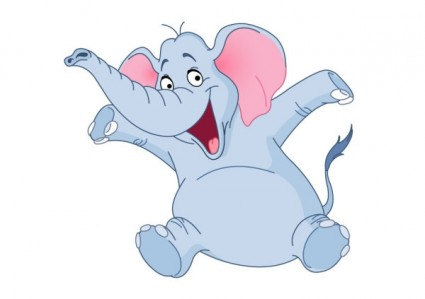 Cartoon baby elephant 04 vector free vectors UI Download