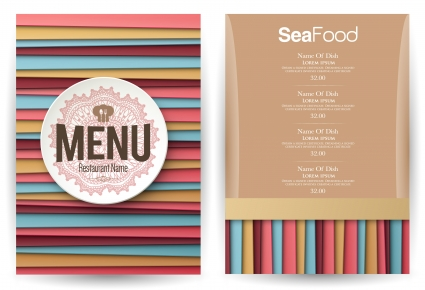 Striped lines background restaurant menu free vectors UI Download