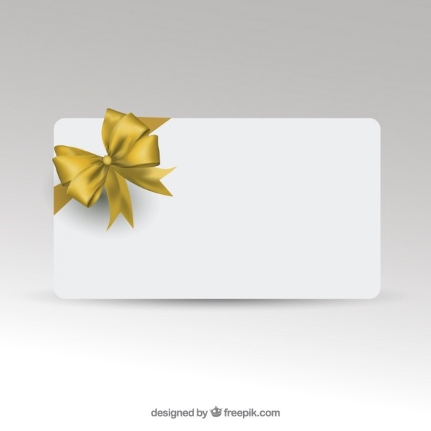 Gift Card Template with Golden Ribbon Free Vector free vectors - christmas gift card templates free