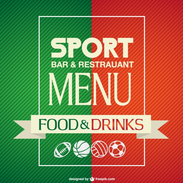 Sport Bar Menu Template Free Vector free vectors UI Download