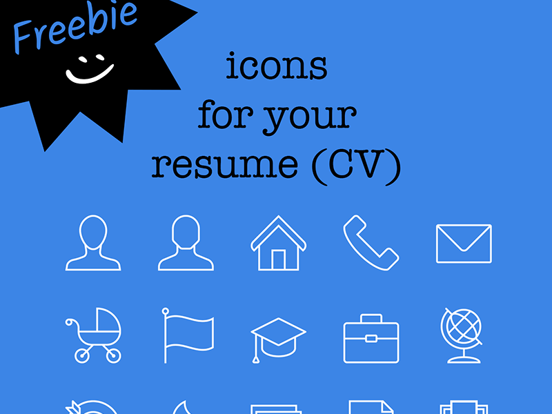 cv icon pack free download