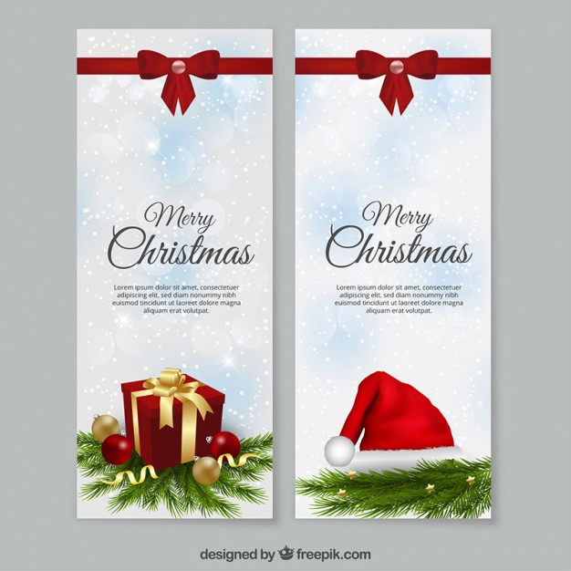 Christmas banners template free vectors UI Download