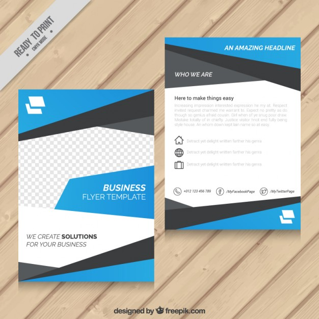 Abstract flyer template free vectors UI Download