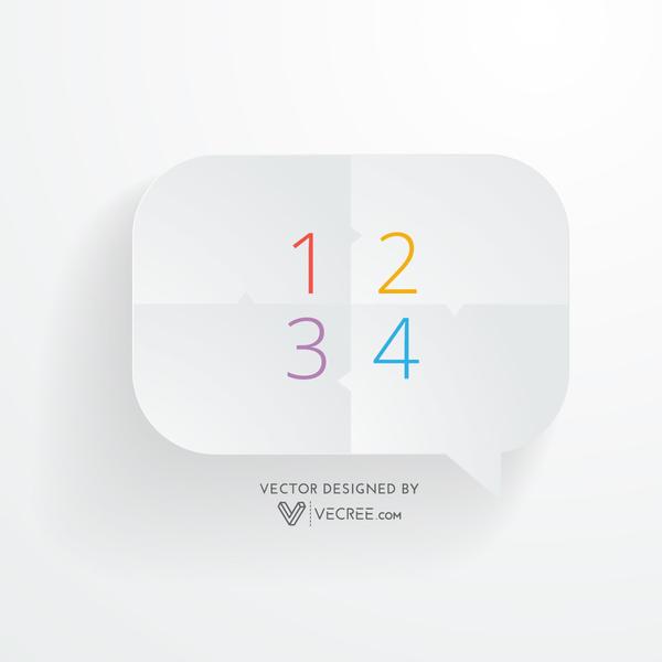 Clean Minimal 3d Chat Bubble Design Free Vector free vectors UI