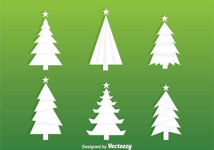 White Christmas Tree Silhouette Vectors free vectors UI Download