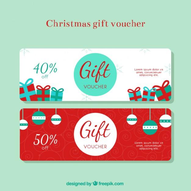 Christmas gift discount voucher free vectors UI Download