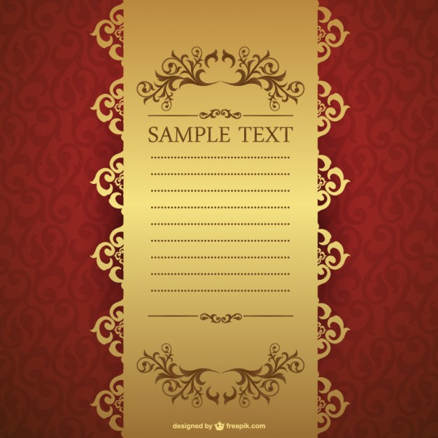 Retro floral invitation template free vectors UI Download - free corporate invitation templates