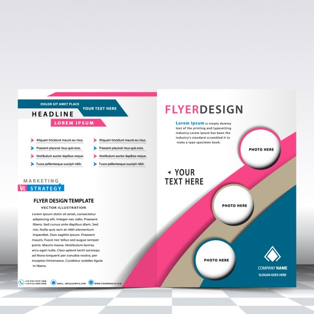 Modern business flyer templates free vectors UI Download