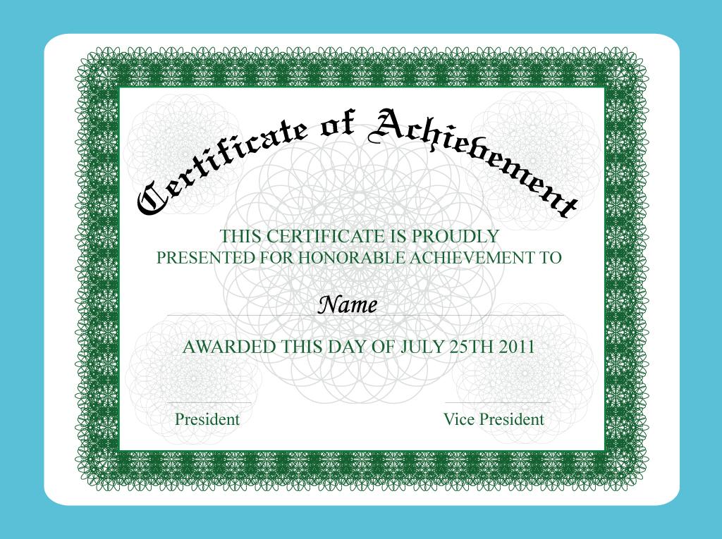 Achievement Certificate free vectors UI Download - free certificate of achievement