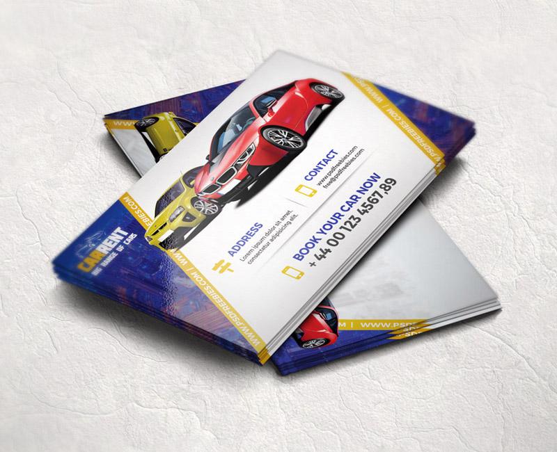 Freebie  Car Dealer Business Card Template Free PSD free psd UI