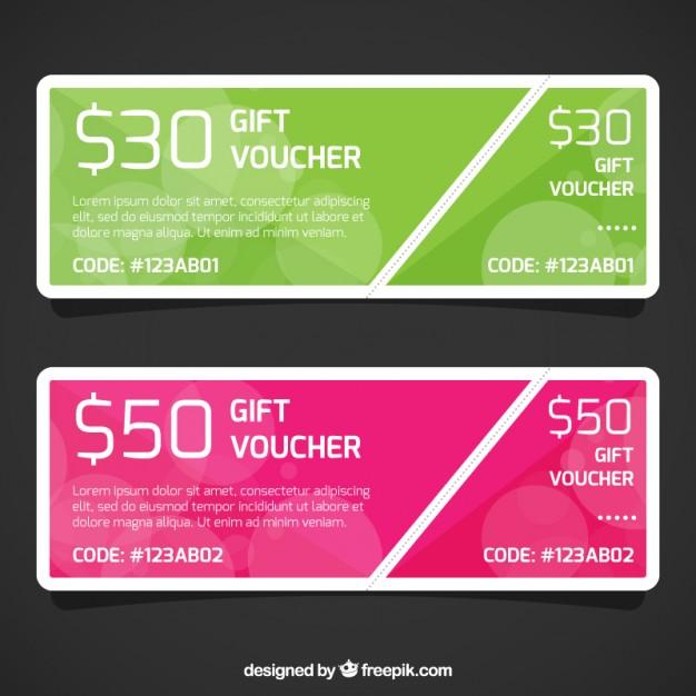 Discount Gift Voucher Template free vectors UI Download