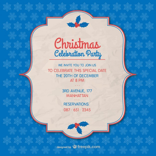 Christmas party invitation template free vectors UI Download