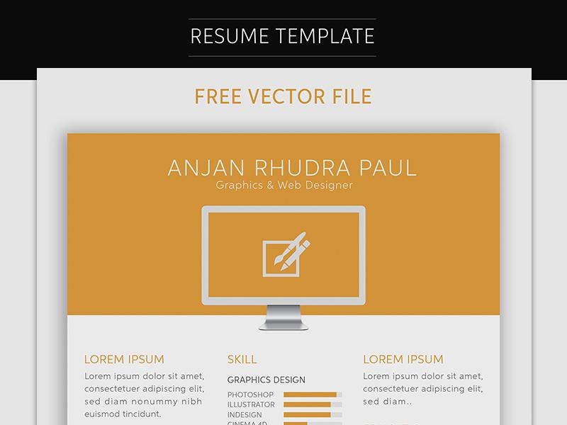 Free Resume Template Download CV free vectors UI Download