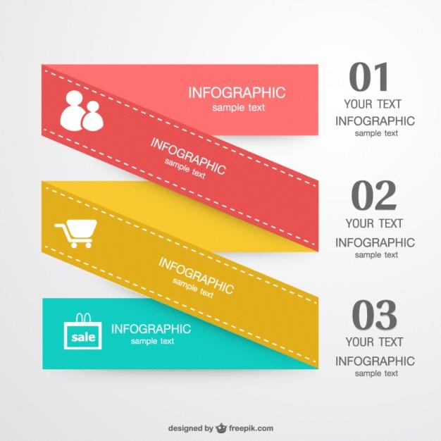 Infographic Folded Label Design Free Vector free vectors UI Download