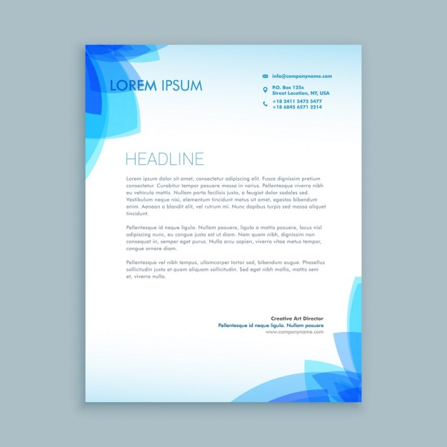 Floral creative business letterhead free vectors UI Download