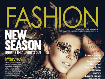 Free Fashion Magazine Cover PSD Template free psd UI Download
