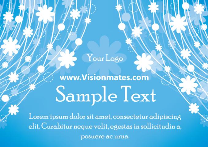 Blue Flower Background free vectors UI Download