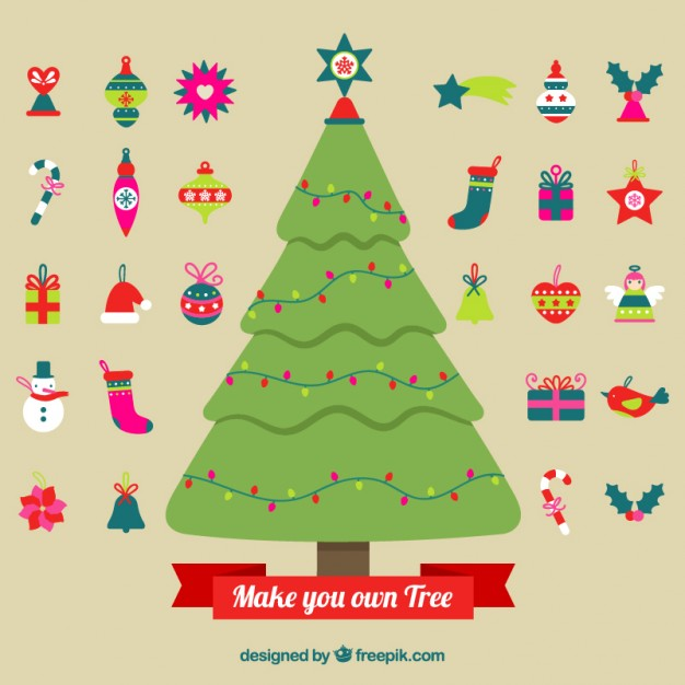 Make your own christmas tree free vectors UI Download