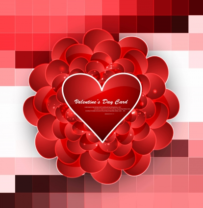 Greeting card valentines day hearts colorful background for wedding