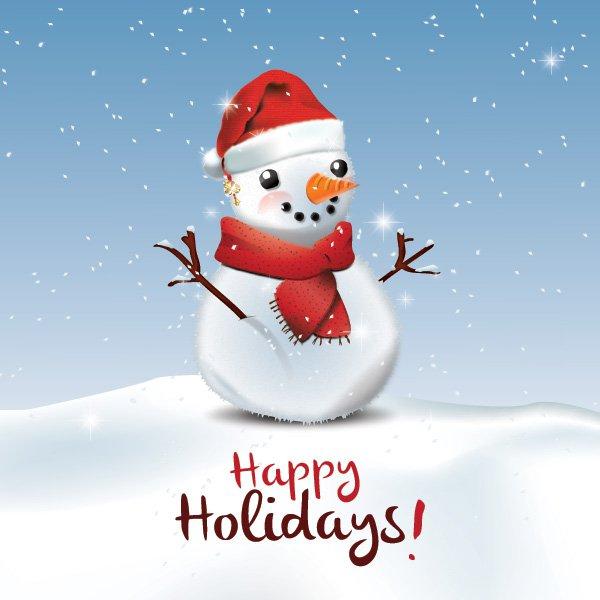 Happy Holidays Greeting Card Free Vector free vectors UI Download
