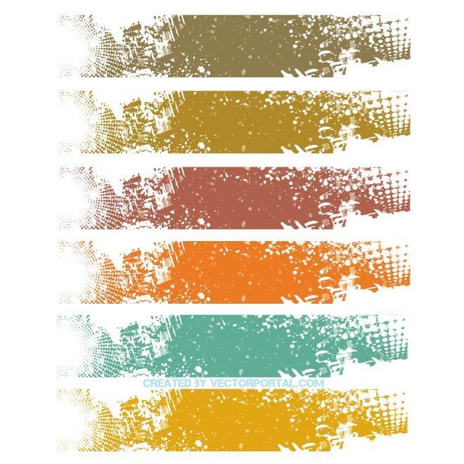 Vector Grunge Banner Background Design free vectors UI Download