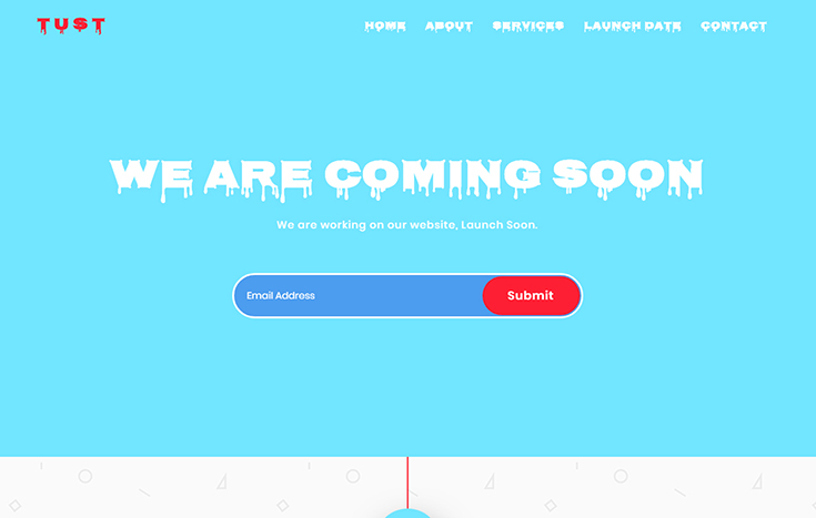 Tust Countdown Coming Soon Bootstrap Template - UiPasta