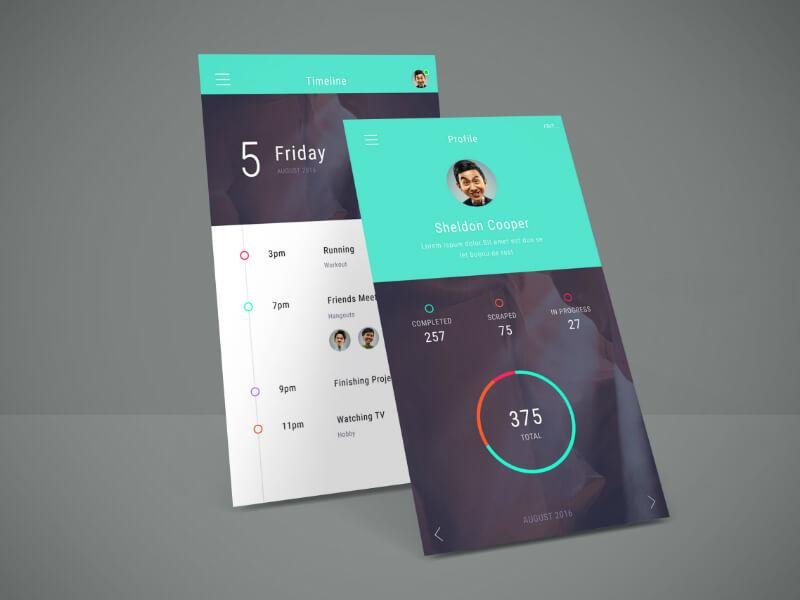 App Screen Showcase Mockup PSD