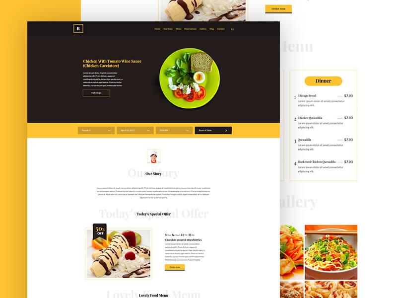 Restaurant Template PSD Free PSDs  Sketch App Resources for - a la carte menu template