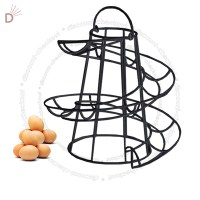 Helter Skelter Spiral 18 Egg Holder Swirl Storage Kitchen