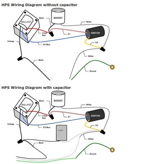fluorescent sockets wiring diagram