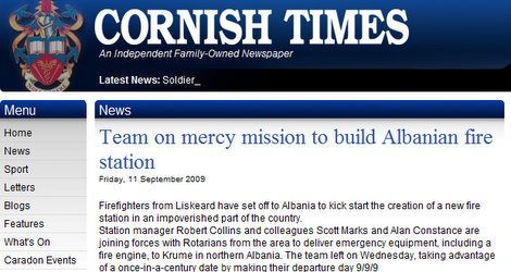 Shoes for Kosovo and fire station for Albania