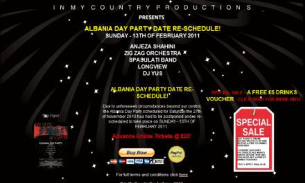ALBANIA DAY PARTY DATE RE-SCHEDULE!