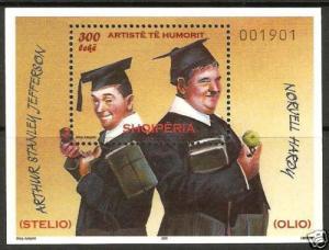 Albania Stamps 2009 Comedians Block MNH Sten Lauren Oliver Hardy