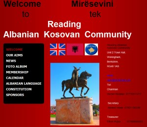 Reading Albanian Kosovan Community website