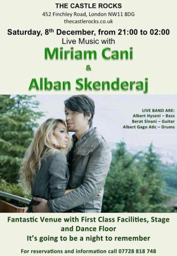 Miriam Cani and Alban Skenderaj in London poster