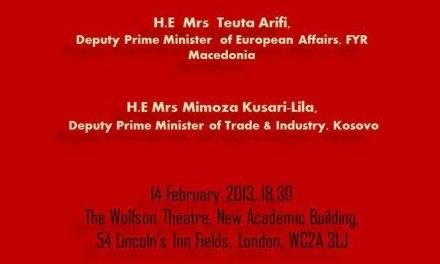 <!--:en-->Kosovo's Regional Role in the Western Balkans – Five Years On, 14 February 2013<!--:-->