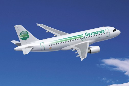 Fly Germania airplane