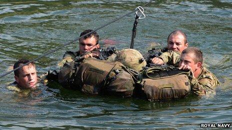 Royal Marines in Albania
