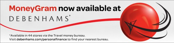 MoneyGram Services now Available at Debenhams'