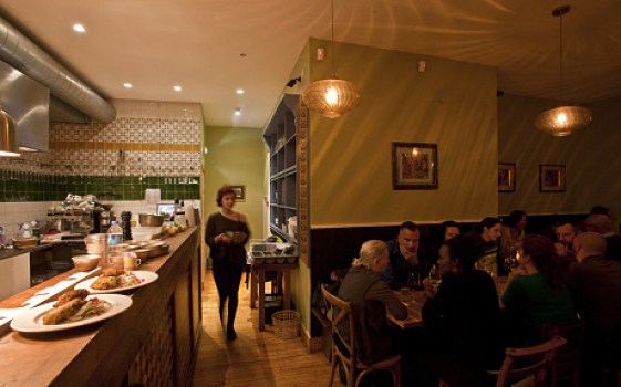 Peckham Bazaar, an acclaimed pan-Balkan restaurant in London that serve Albanian food as well (Celia Topping)