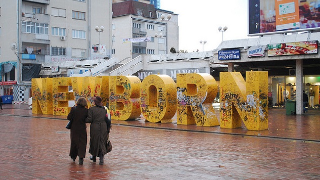The Newborn monument is a typographic sculpture and tourist attraction in Pristina, Kosovo.