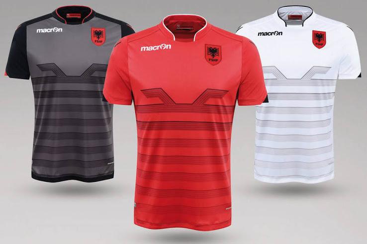 Albania Euro2016, Home and Away Kits