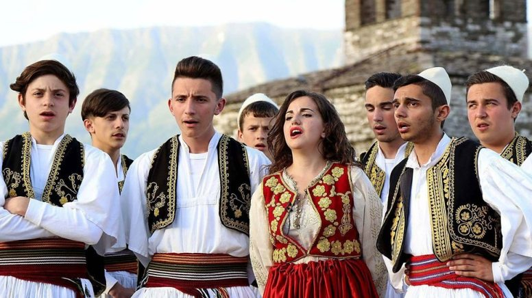 Albanian singers at the music festival in Gjirokaster. Credit: Gent Shkullaku, LSA