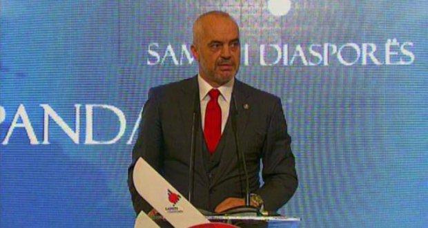 Edi Rama në Samitin e Diasporës në Tiranë, 18 nëntor 2016