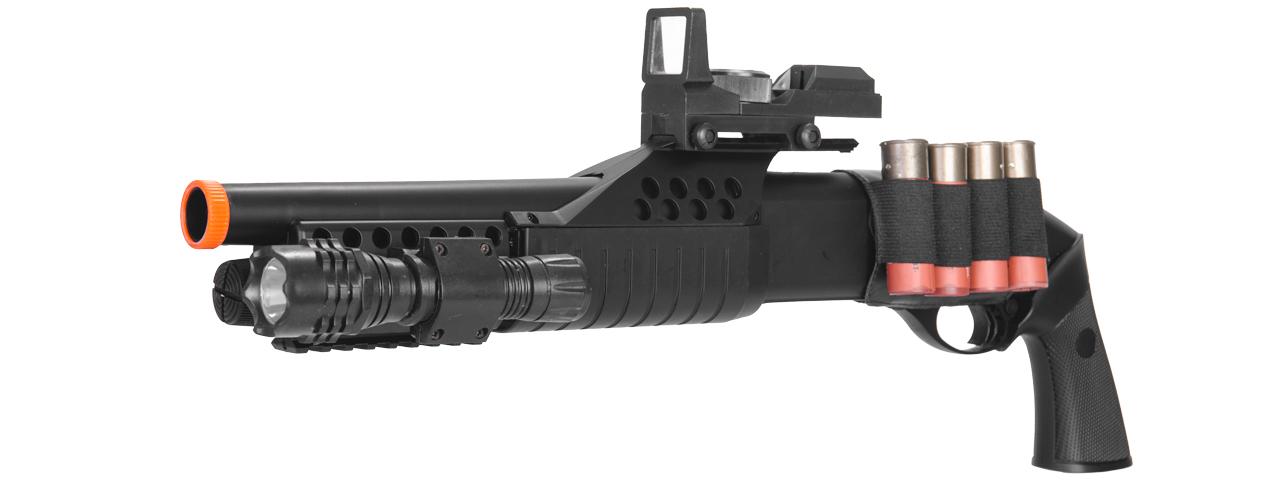 M180b2 Spring Shotgun Ris Pistol Grip W 4 Bullet Shells