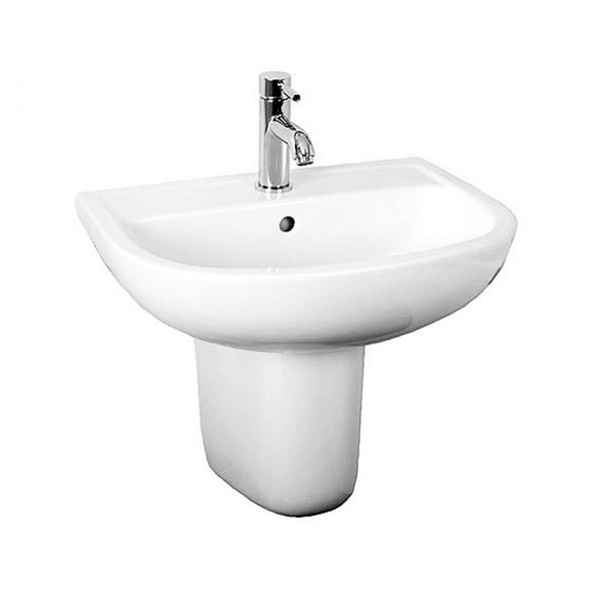 Rak Compact Wash Basin 550mm Uk Bathrooms