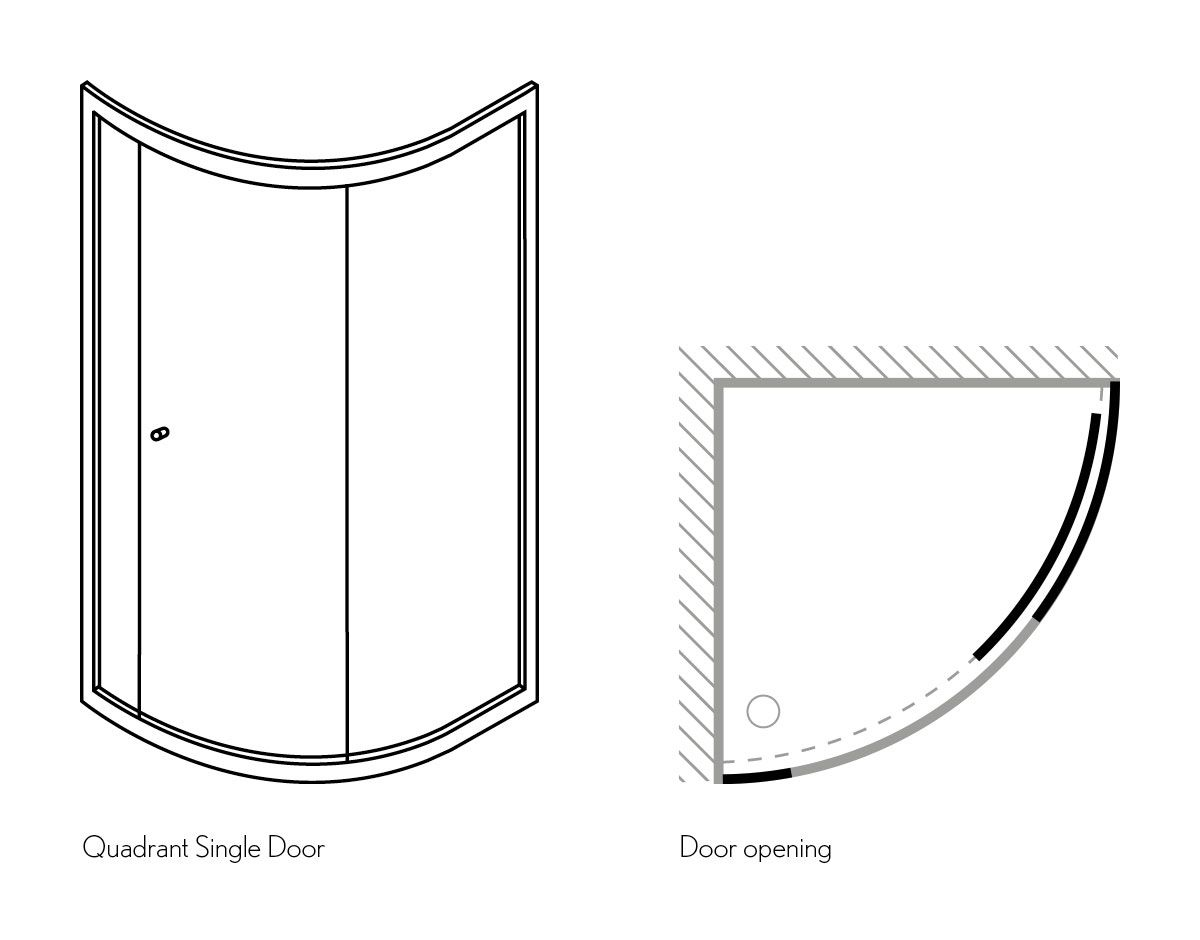 Amazing Simpsons Edge Single Door Quadrant Shower Enclosure Uk ...